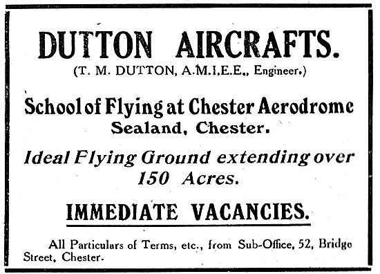 Dutton Aircrafts School Of Flying - Chester Aerodrome, Sealand