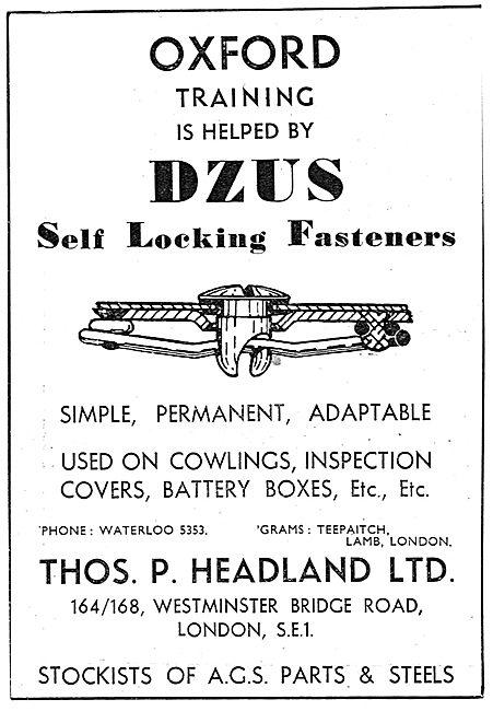 Thos.P.Headland  - DZUS Fasteners