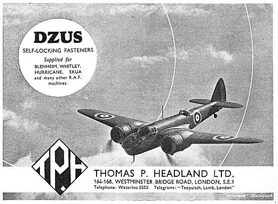 Thos.Headland - DZUS Fasteners 1939