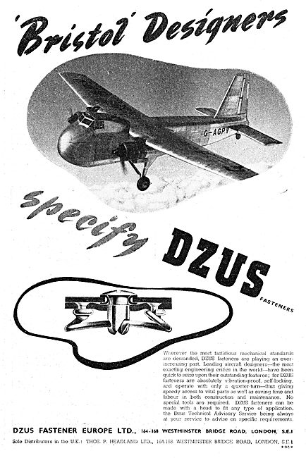 Dzus Fasteners For Aircraft 1949
