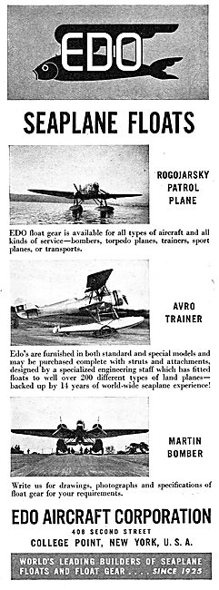 EDO Aircraft Corporation : EDO Seaplane Floats