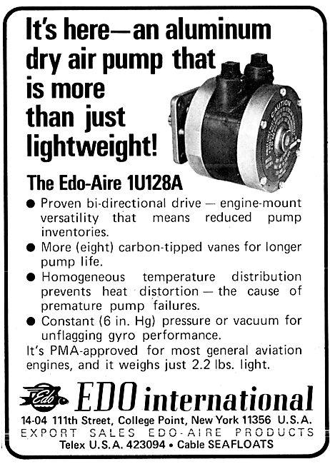 Edo-Aire Avionics - Edo-Aire Dry Air Pump 1U128A