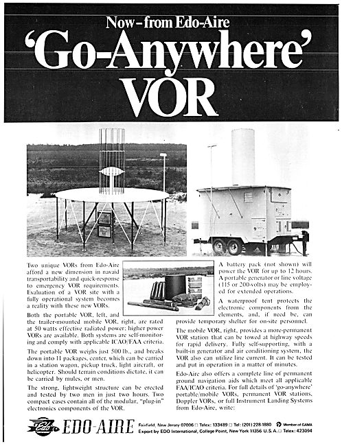 EDO-Aire Transportable VOR Ground Station Installation