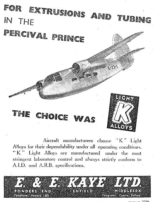 E & E Kaye  Tubes & Extrusions For Aircraft