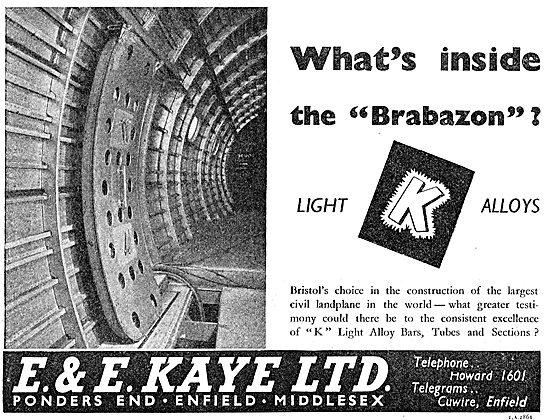 E & E Kaye Light Alloy Bars, Tubes & Sections