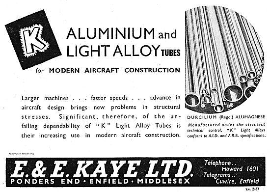 E & E Kaye Enfield For Durcilium & Alumagnese Tubes