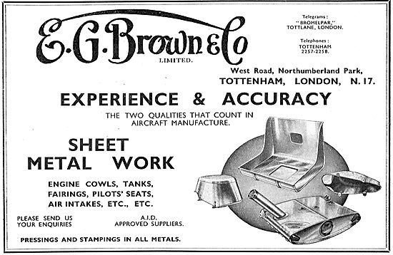 E.G.Brown Aircraft Sheet Metal Work