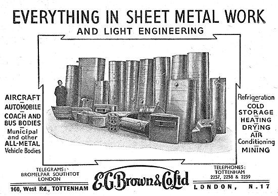E.G.Brown Aviation Sheet Metal Work & Fabrications