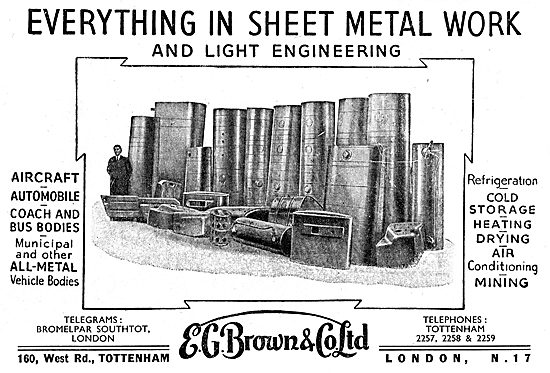 E.G.Brown. Aircraft Sheet Metal & Engineering.