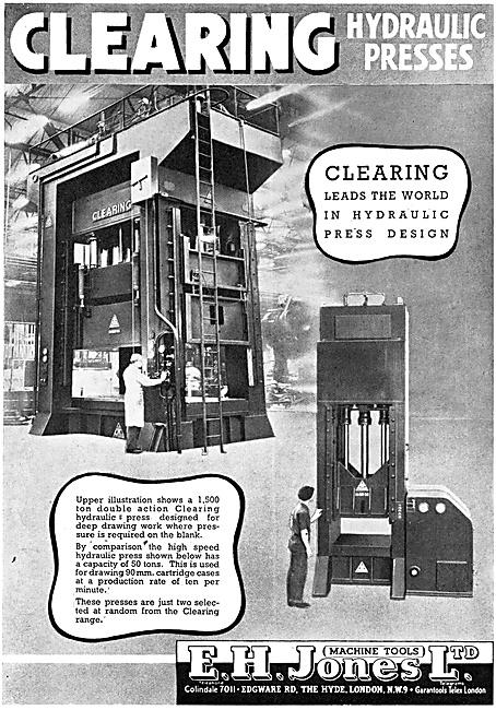 E.H.Jones Machine Tools - Hydraulic Presses 1944
