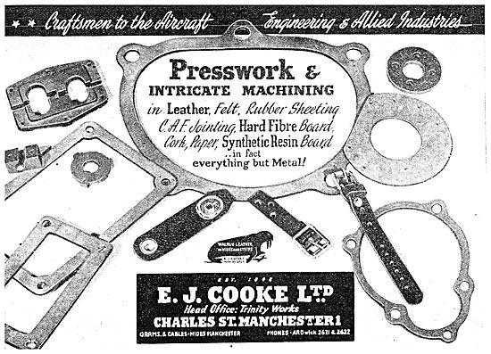 E.J.Cooke Presswork & Intricate Machining In Leather