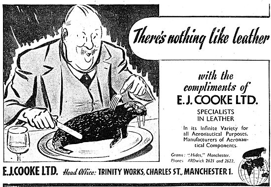 E.J.Cooke Leather Parts For Aircraft 1943