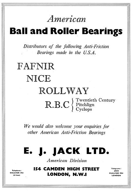 E.J.Jack Ltd - Fafnir Nice Rollway RBC Bearings