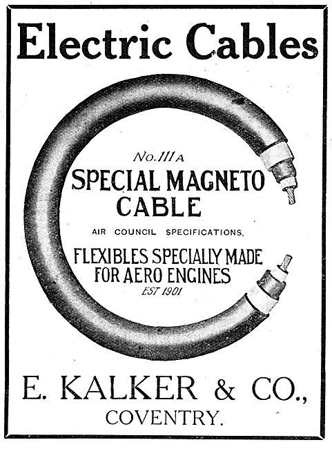 E.Kalker & Co. No 111a Special Magneto Cable