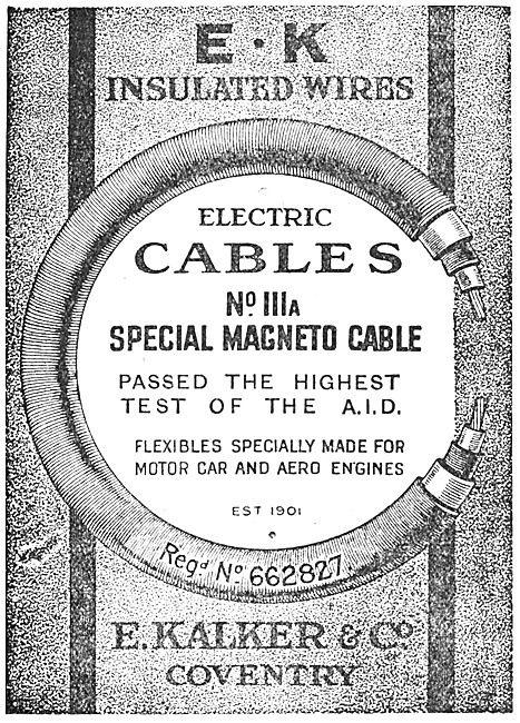 E.Kalker & Co. E:K Insulated Wires For Aircraft