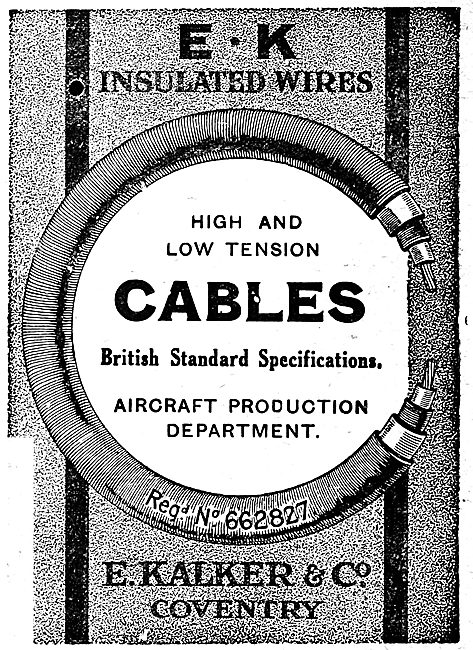 E.Kalker & Co. E:K Insulated Wires & Cables For Aircraft