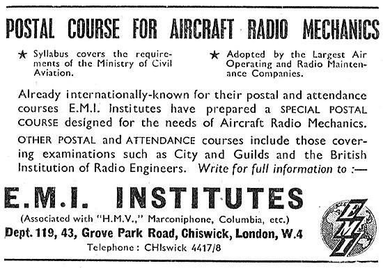 EMI Institutes Correspondence Courses For Radio Mechanics