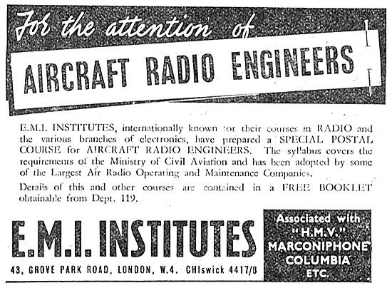 EMI Institutes Correspondence Courses For Radio Engineers 1949