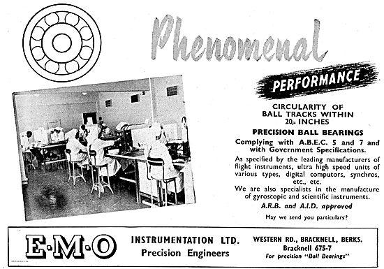 E.M.O. Instrumentation Precision Bearing For Aircraft Instruments