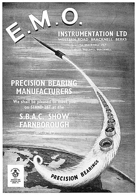 E.M.O. Instrumentation. Precision Bearing Manufacturers