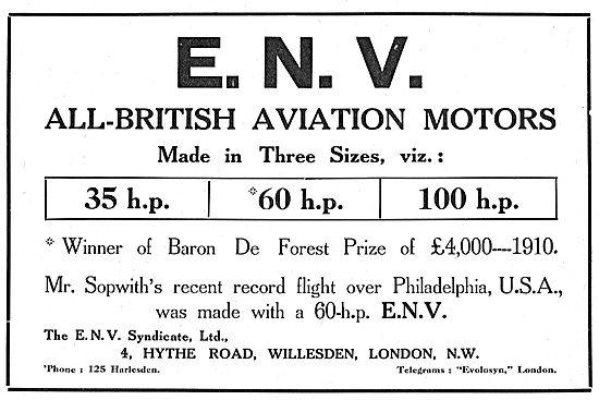 ENV Aviation Motors  35-100 HP