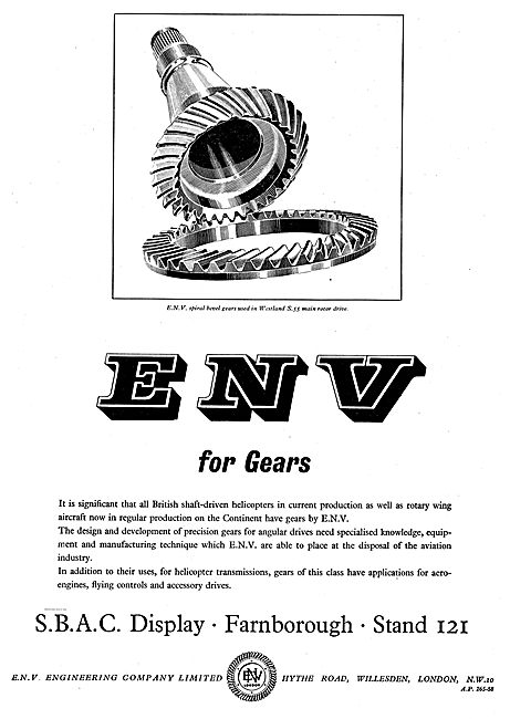 ENV Engineering Gears For Helicopter Drive Shafts