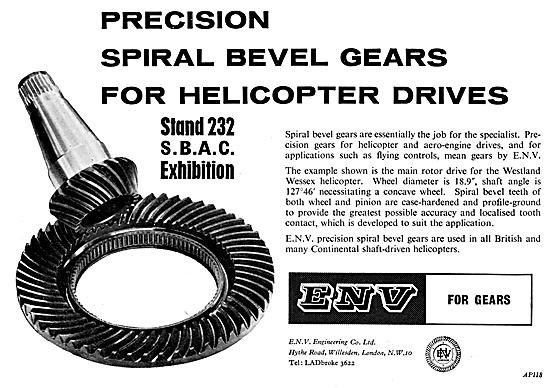 ENV Engineering. Gears For Helicopter Rotor Drives