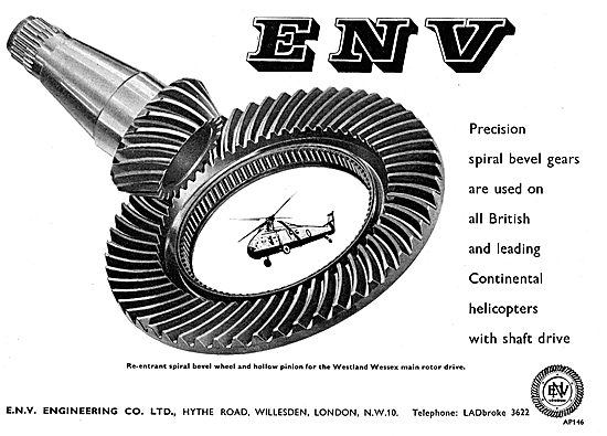 ENV Engineering - Precision Spiral Bevel Gears For Helicopters