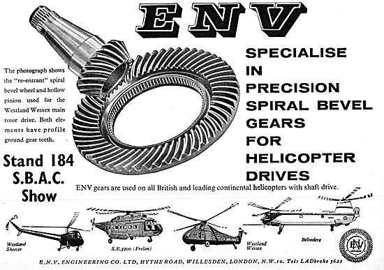 ENV Engineering : Spiral Bevel Gears For Helicopter Drives