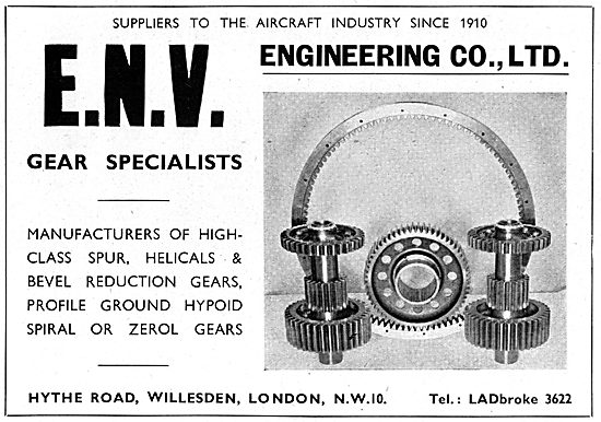 ENV Engineering, Willesden. Gear Specialists & Manufacturers