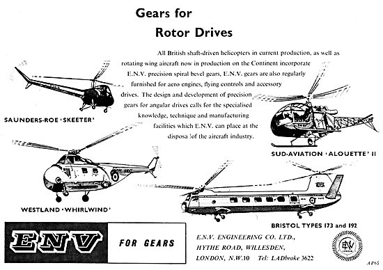 ENV Engineering. E.N.V. Gears For Helicopter Rotor Drives