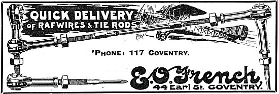 E.O.French. 44 Earl St Coventry. Wires & Tie Rods