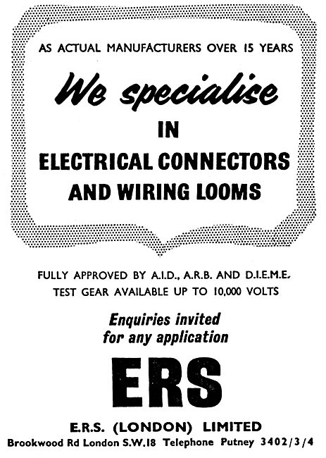 ERS Radio Connectors & Electrical Wiring Looms. E.S.C.