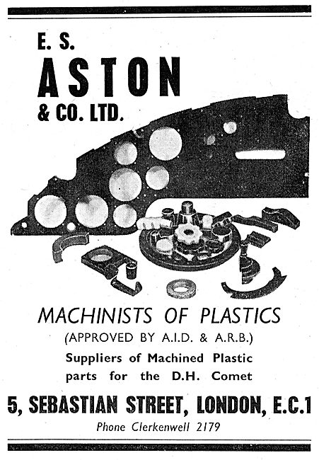 E.S. Aston - Machinists Of Plastics For The Aircraft Industry