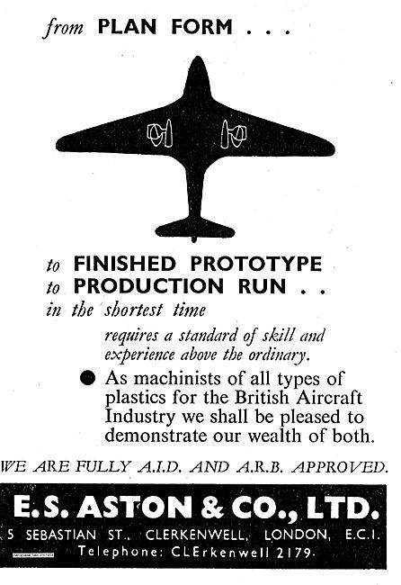 E.S. Aston AID / ARB Approved Plastics Machining