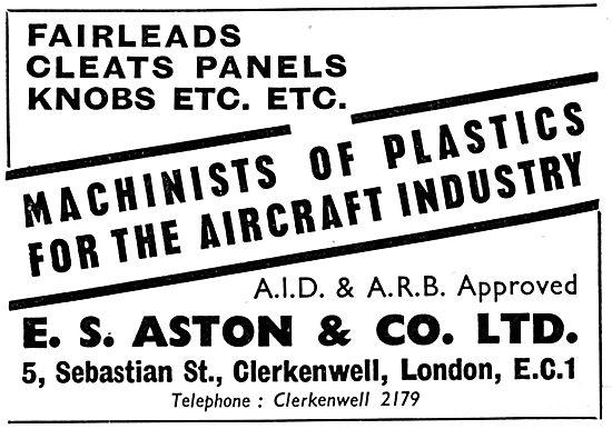 E.S. Aston Machinists Of Plastics