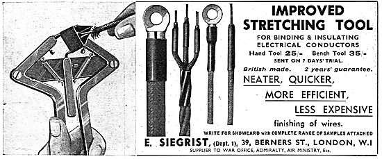 E.Siegrist : Improved Stretching Tools For Electrical Wiring