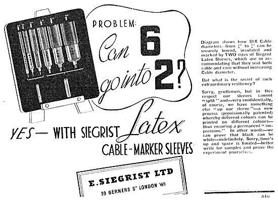 E.Siegrist Latex Electrical Cable Marker Sleeves