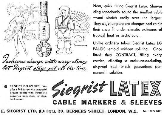 E.Siegrist  Latex Cable Sleeves & Markers