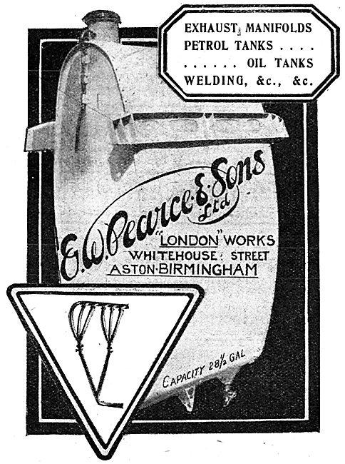 E.W.Pearce & Sons - Aston Birmingham .Aeronautical Engineers 1917