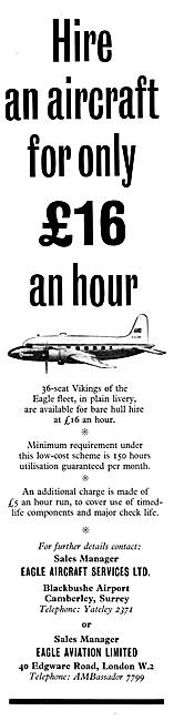 Eagle Aviation Air Charter 1960