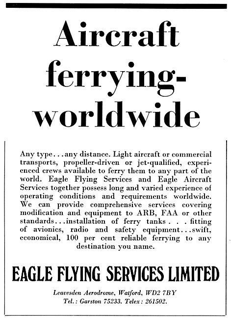 Eagle Flying Services Aircraft Ferrying