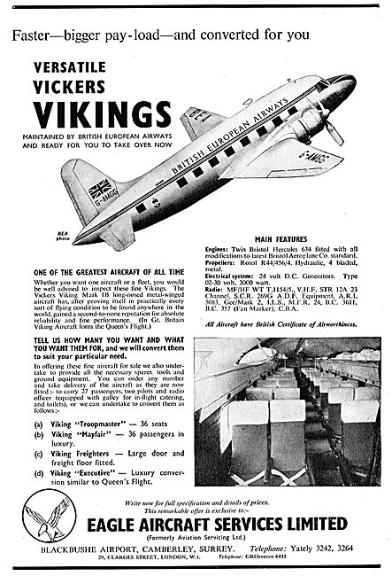Eagle Aircraft Services - Viking Conversions. Blackbushe