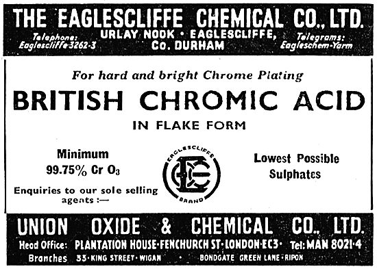 Eaglescliffe Chemical - Chromic Acid
