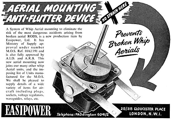Easipower Whip Aerial Anti-Flutter Mounting