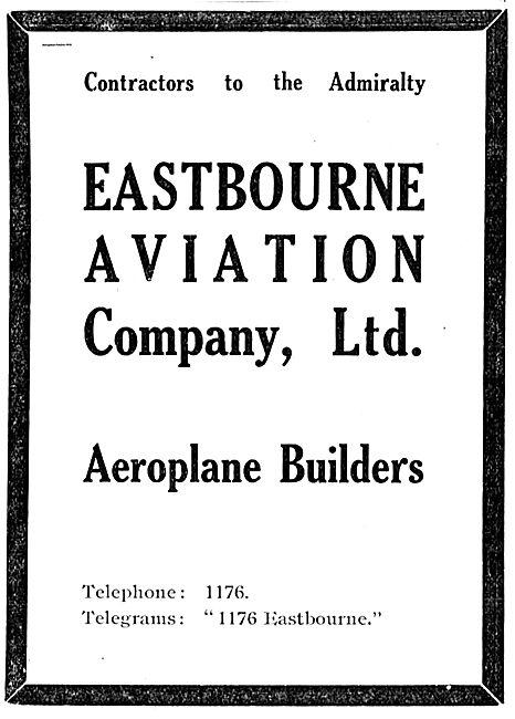 Eastbourne Aviation Aeroplane Builders: Contractors To  Admiralty