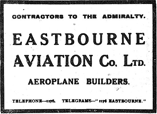 Eastbourne Aviation Co - Aeroplane Builders