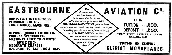 Eastbourne Aviation - Tuition On Genuine Bleriot Monoplanes