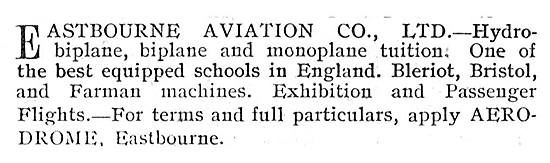 Eastbourne Aviation Biplane & Hydro Aeroplane Tuition