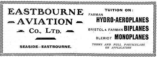 Eastbourne Aviation Tuition On Farman Hydro-Aeroplanes